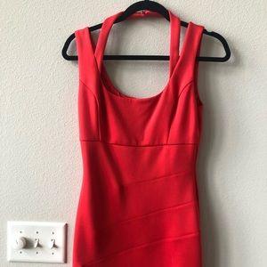Guess red body con mini dress